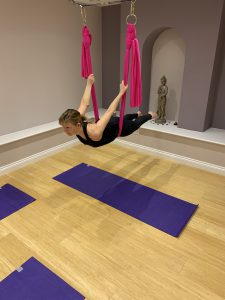 Aerial Yoga Instructor Caroline Shone